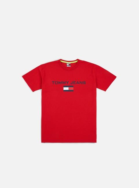 t shirt tommy hilfiger tj 90s logo t shirt barbados cherry