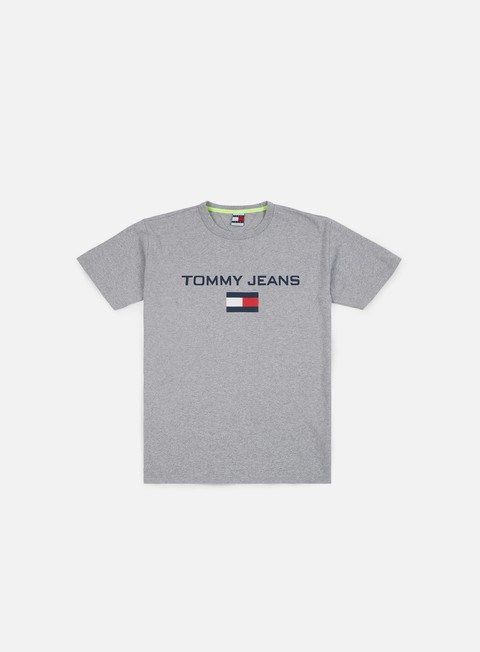 t shirt tommy hilfiger tj 90s logo t shirt light grey heather