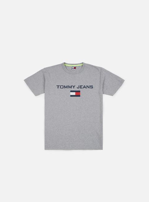 t shirt tommy hilfiger tj 90s logo t shirt light grey heather