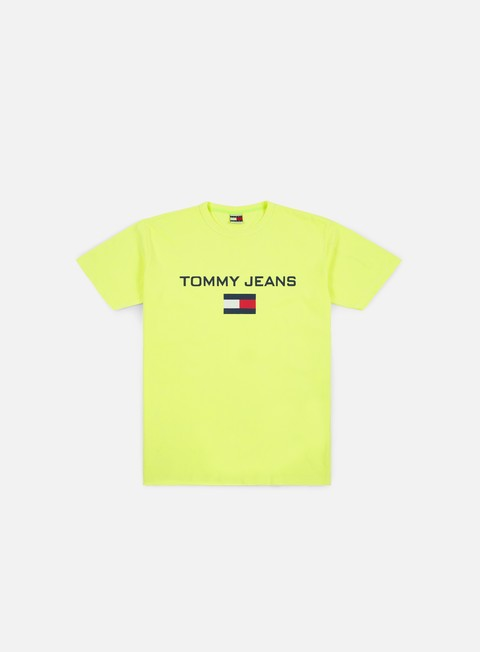 t shirt tommy hilfiger tj 90s logo t shirt safety yellow