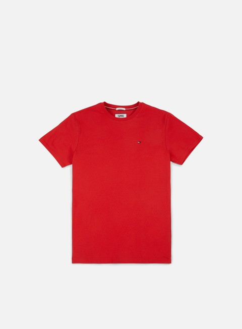 t shirt tommy hilfiger tj basic knit t shirt racing red