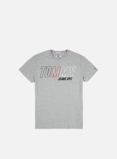 t shirt tommy hilfiger tj block logo t shirt light grey heather