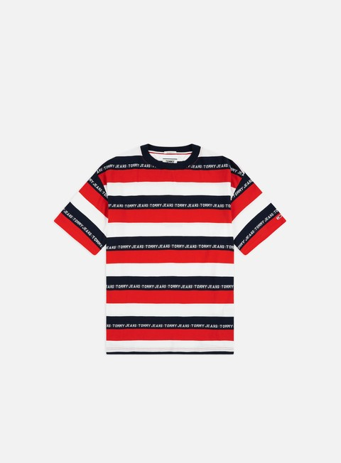 Sale Outlet Short Sleeve T-shirts Tommy Hilfiger TJ Branded Stripe T-shirt