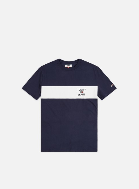 Outlet e Saldi T-shirt a Manica Corta Tommy Hilfiger TJ Chest Stripe Logo T-shirt