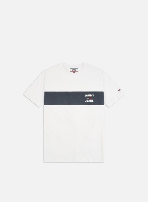 Sale Outlet Short Sleeve T-shirts Tommy Hilfiger TJ Chest Stripe Logo T-shirt