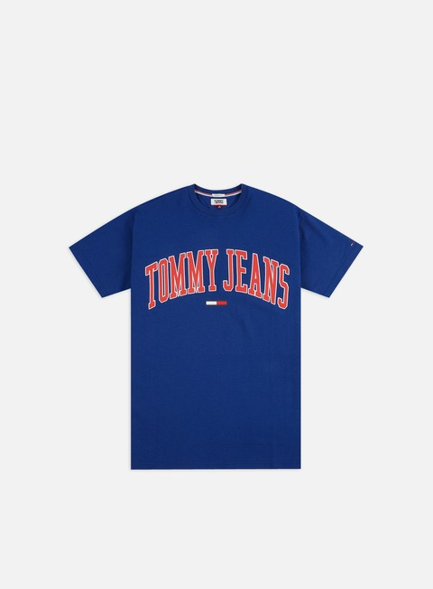 Sale Outlet Short Sleeve T-shirts Tommy Hilfiger TJ Collegiate Logo T-shirt