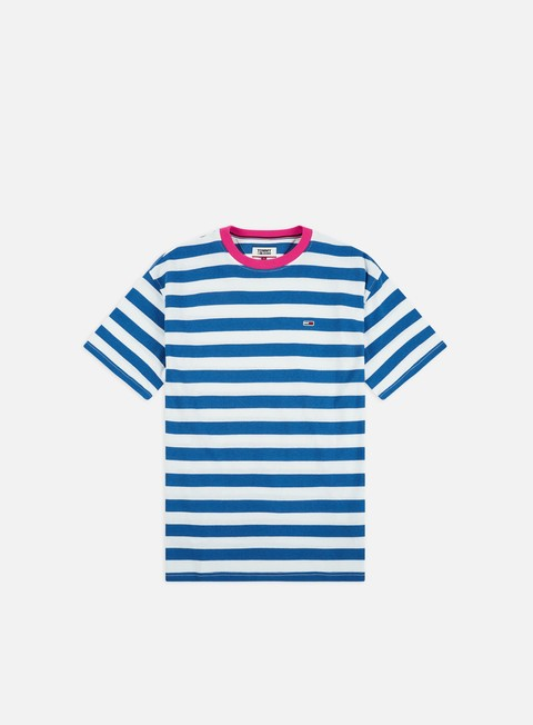 Outlet e Saldi T-shirt a Manica Corta Tommy Hilfiger TJ Color Neck Stripe T-shirt