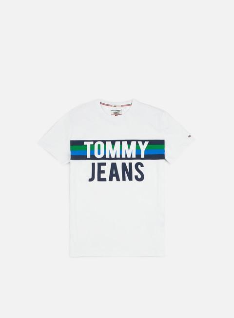 t shirt tommy hilfiger tj colorblock font t shirt classic white
