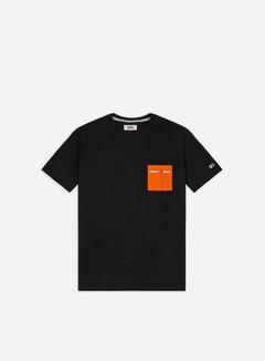 Tommy Hilfiger - TJ Contrast Pocket T-shirt, Black/Bonfire Orange