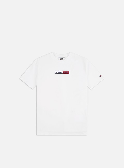 Sale Outlet Short Sleeve T-shirts Tommy Hilfiger TJ Embroidered Box Logo T-shirt