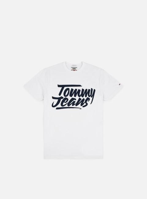 t shirt tommy hilfiger tj essential script t shirt classic white