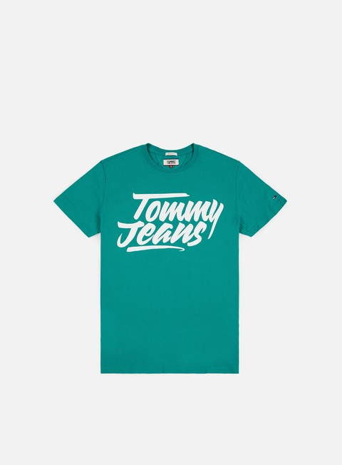 t shirt tommy hilfiger tj essential script t shirt green blue state