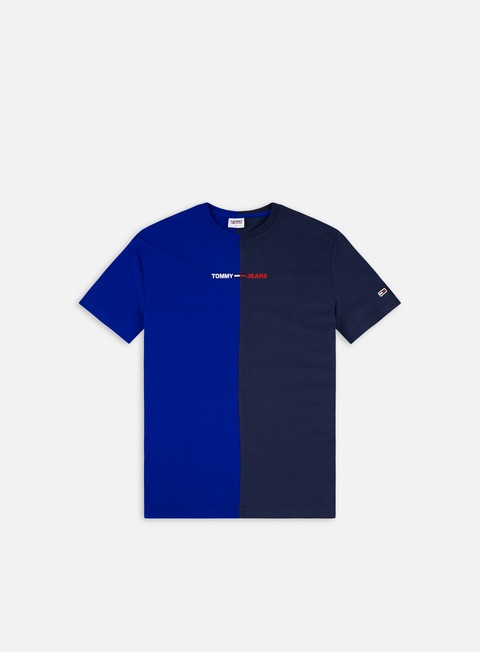 Short Sleeve T-shirts Tommy Hilfiger TJ Half N Half Liner Logo T-shirt