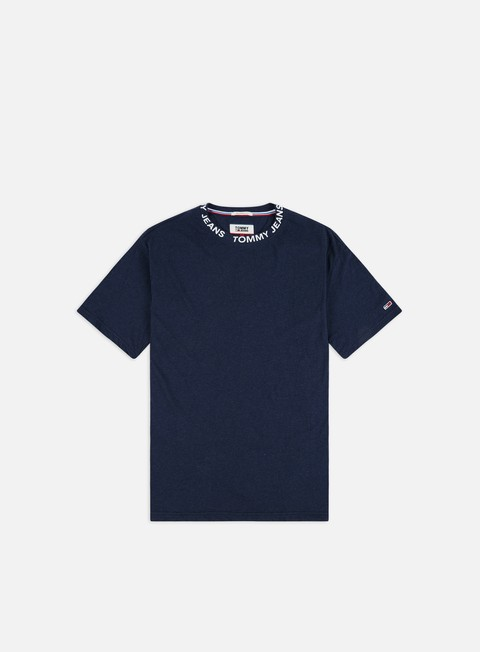 Outlet e Saldi T-shirt a Manica Corta Tommy Hilfiger TJ Heather Branded Collar T-shirt