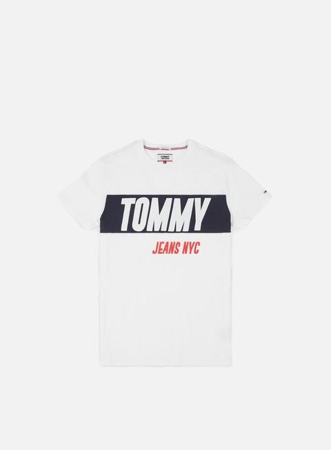 t shirt tommy hilfiger tj heavy logo t shirt classic white