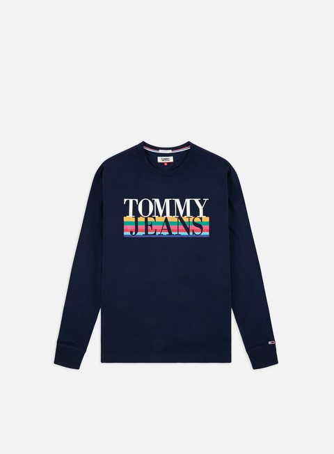 Sale Outlet Logo T-shirts Tommy Hilfiger TJ Multicolor LS T-shirt