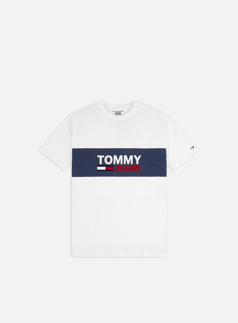 Sale Outlet Short Sleeve T-shirts Tommy Hilfiger TJ Pieced Band Logo T-shirt