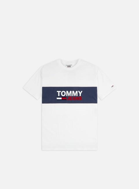 Outlet e Saldi T-shirt a Manica Corta Tommy Hilfiger TJ Pieced Band Logo T-shirt