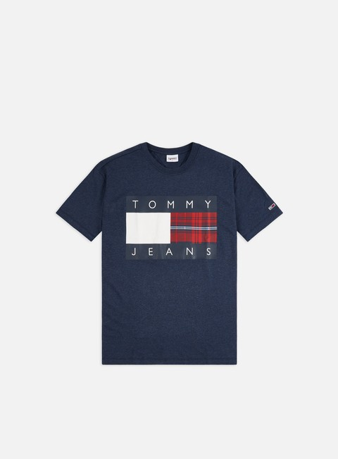 Logo T-shirts Tommy Hilfiger TJ Plaid Center Flag T-shirt