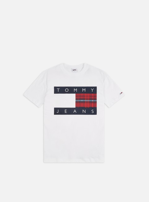 Outlet e Saldi T-shirt a Manica Corta Tommy Hilfiger TJ Plaid Center Flag T-shirt