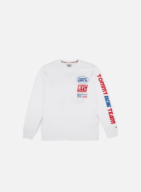 t shirt tommy hilfiger tj racing team ls t shirt white