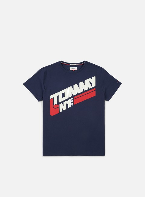 t shirt tommy hilfiger tj retro block t shirt black iris