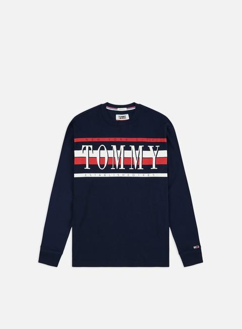 Sale Outlet Long sleeve T-shirts Tommy Hilfiger TJ Retro LS T-shirt