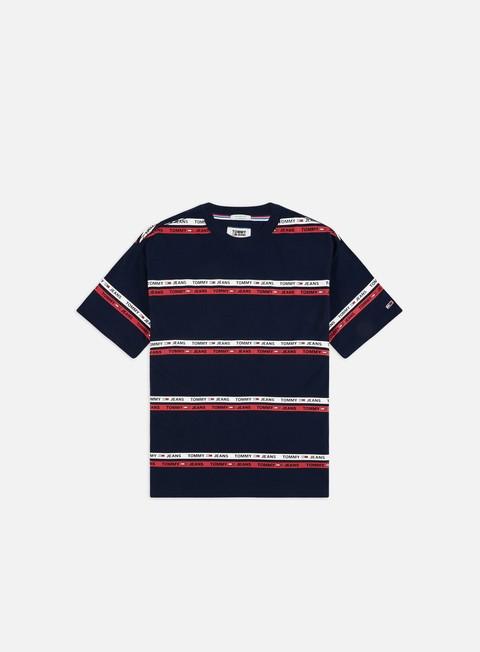 Outlet e Saldi T-shirt a Manica Corta Tommy Hilfiger TJ Signature Stripe Logo T-shirt