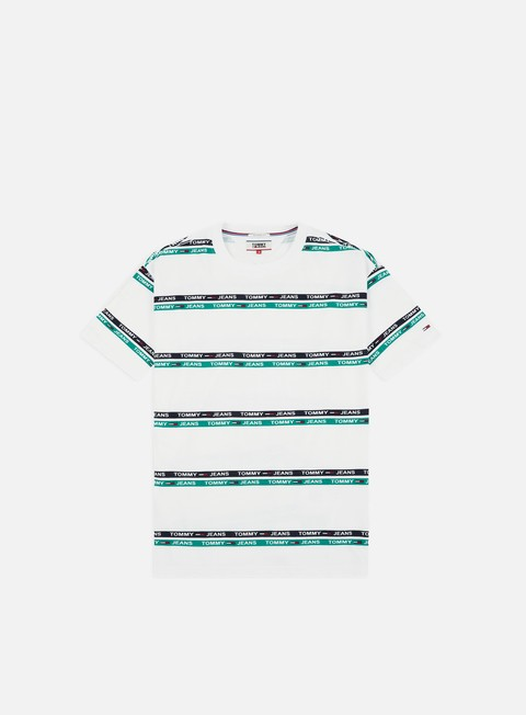 Sale Outlet Short Sleeve T-shirts Tommy Hilfiger TJ Signature Stripe Logo T-shirt