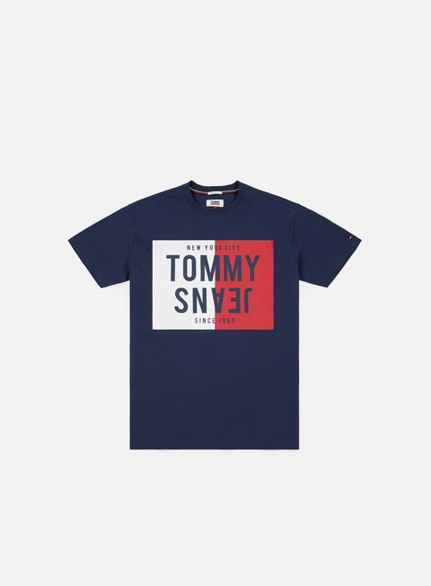 t shirt tommy hilfiger tj split box t shirt black iris