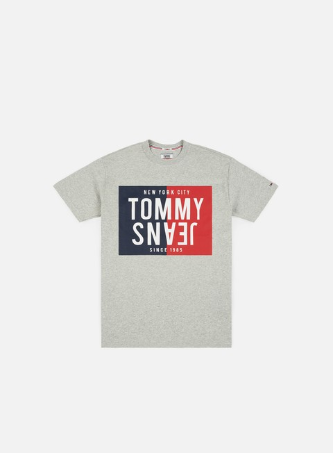 t shirt tommy hilfiger tj split box t shirt light grey heather