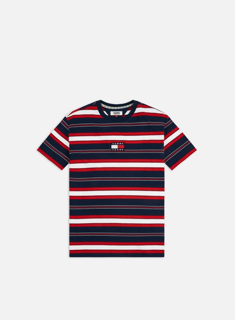 Short Sleeve T-shirts Tommy Hilfiger TJ Stripe Logo T-shirt