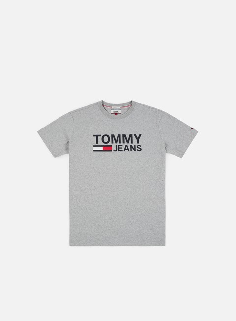 t shirt tommy hilfiger tj tommy classics logo t shirt light grey heather