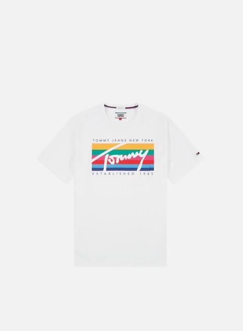 Outlet e Saldi T-shirt a Manica Corta Tommy Hilfiger TJ Tommy Rainbow Box T-shirt