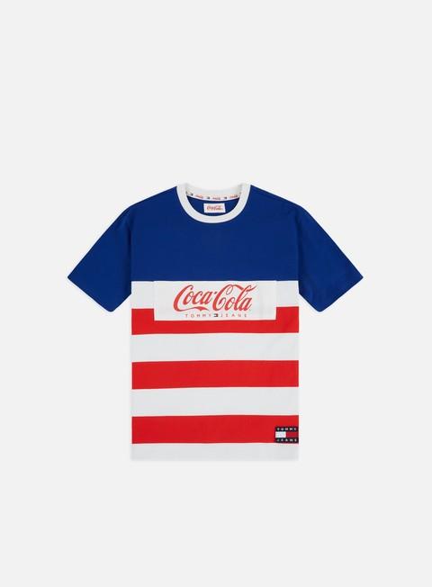 Outlet e Saldi T-shirt a Manica Corta Tommy Hilfiger TJ Tommy x Coca Cola Stripe T-shirt