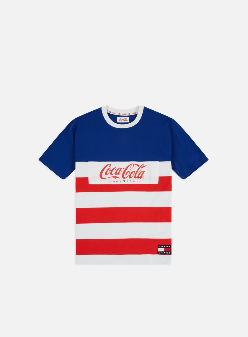 TJ Tommy x Coca Cola Stripe T shirt