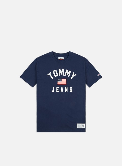 Outlet e Saldi T-shirt a Manica Corta Tommy Hilfiger TJ Usa Flag T-shirt