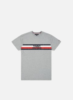Tommy Hilfiger - Tommy Logo T-shirt, Cloud Heather