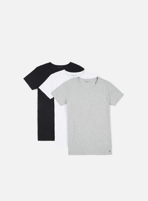 t shirt tommy hilfiger underwear premium essentials t shirt 3 pack grey heather white black
