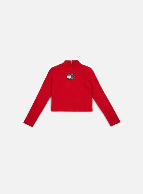 Long Sleeve T-shirts Tommy Hilfiger WMNS TJ 90s Cropped Turtleneck Knit