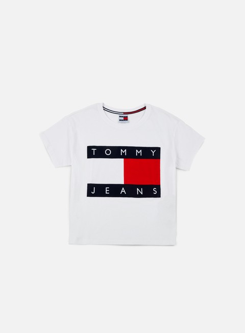 t shirt tommy hilfiger wmns tj 90s flock t shirt classic white