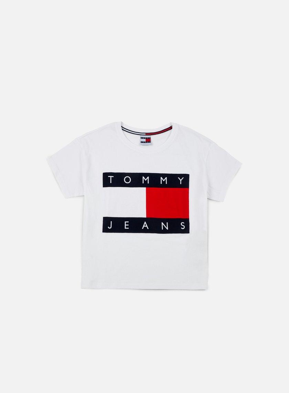 Tommy Hilfiger - WMNS TJ 90s Flock T-shirt, Classic White