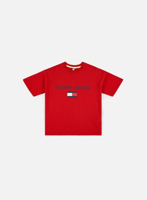 t shirt tommy hilfiger wmns tj 90s logo t shirt barbados cherry
