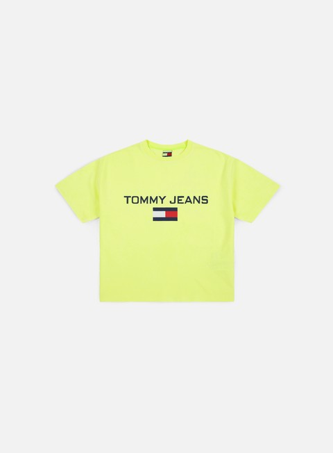 t shirt tommy hilfiger wmns tj 90s logo t shirt safety yellow