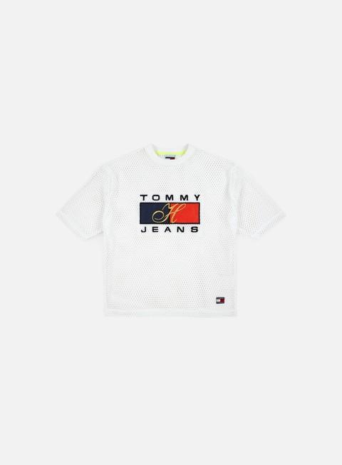 t shirt tommy hilfiger wmns tj 90s mesh t shirt bright white