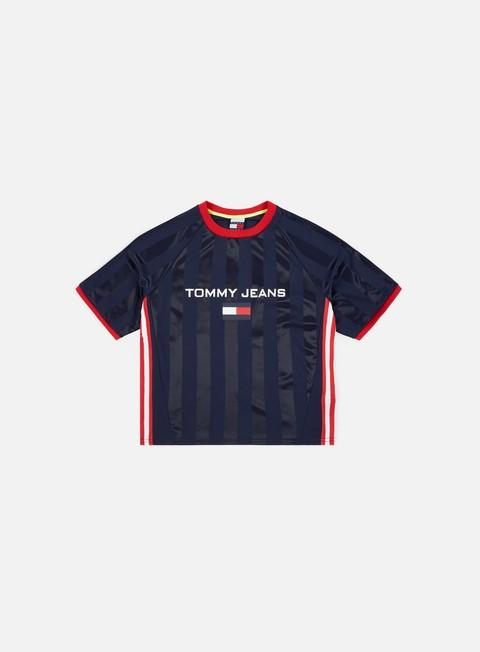 t shirt tommy hilfiger wmns tj 90s soccer crop t shirt peacot