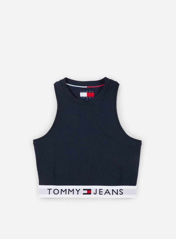 Tommy Hilfiger - WMNS TJ 90s Waistband Tank Top Medieval Blue - DW0DW02619-428 T-shirts Tank Top