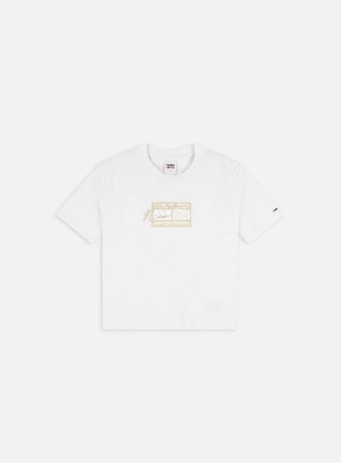T-shirt a manica corta Tommy Hilfiger WMNS TJ Regular Embroidered Flag T-shirt