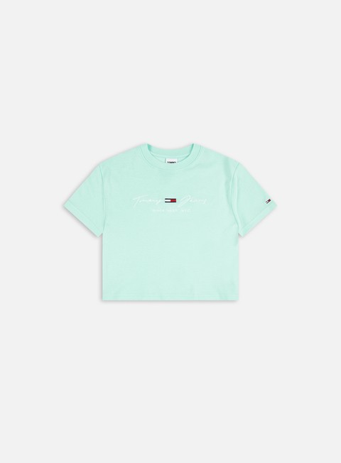 T-shirt a Manica Corta Tommy Hilfiger WMNS TJ Rib Babydoll T-shirt