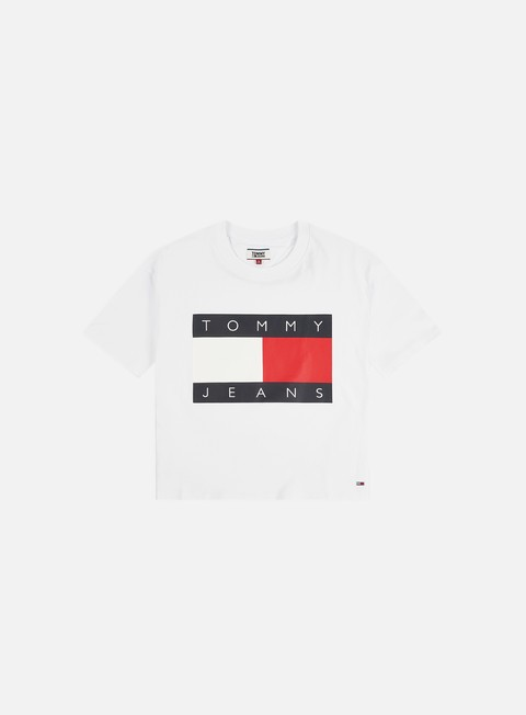 Sale Outlet Short Sleeve T-shirts Tommy Hilfiger WMNS TJ Tommy Flag T-shirt